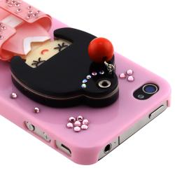 Light Pink Kimono Girl Mirror Snap-on Case for Apple iPhone 4/ 4S - Thumbnail 2
