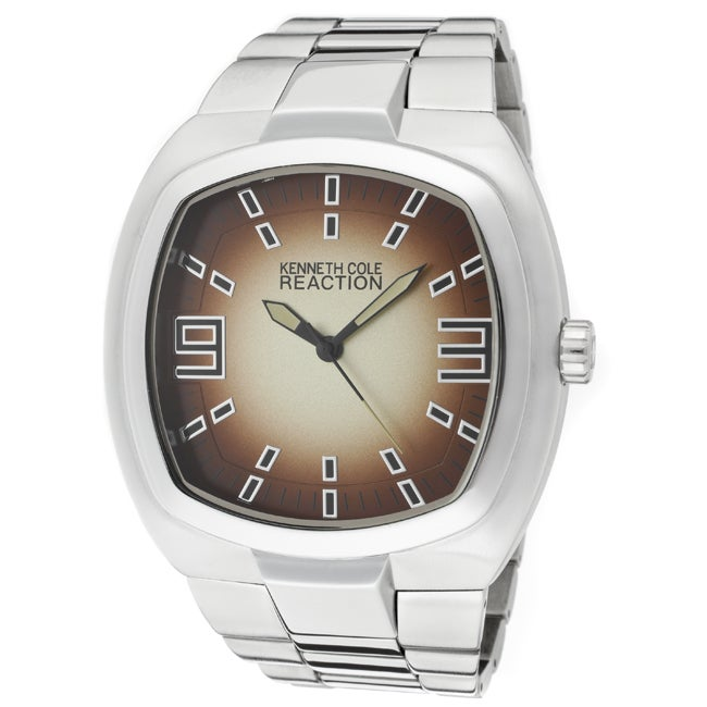 Kenneth Cole Reaction Men's Silvertone Base Metal Watch