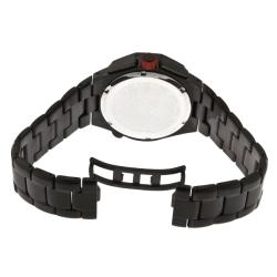 Red Line Men's 'Travel' Black Ion-plated Stainless Steel Watch - Thumbnail 1