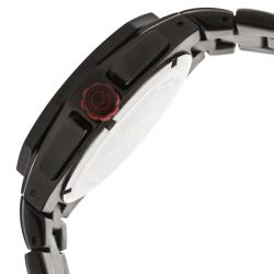 Red Line Men's 'Travel' Black Ion-plated Stainless Steel Watch - Thumbnail 2