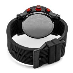 Red Line Men's 'Compressor' Black Textured Silicone Watch