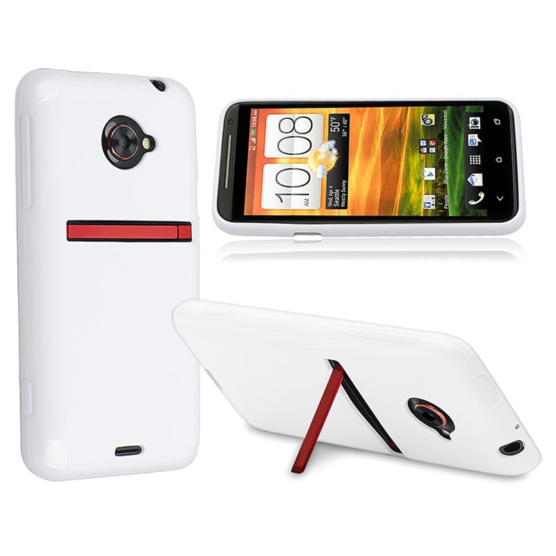 White Jelly TPU Rubber Skin Case for HTC EVO 4G LTE