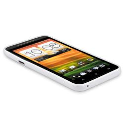 White Jelly TPU Rubber Skin Case for HTC EVO 4G LTE - Thumbnail 2