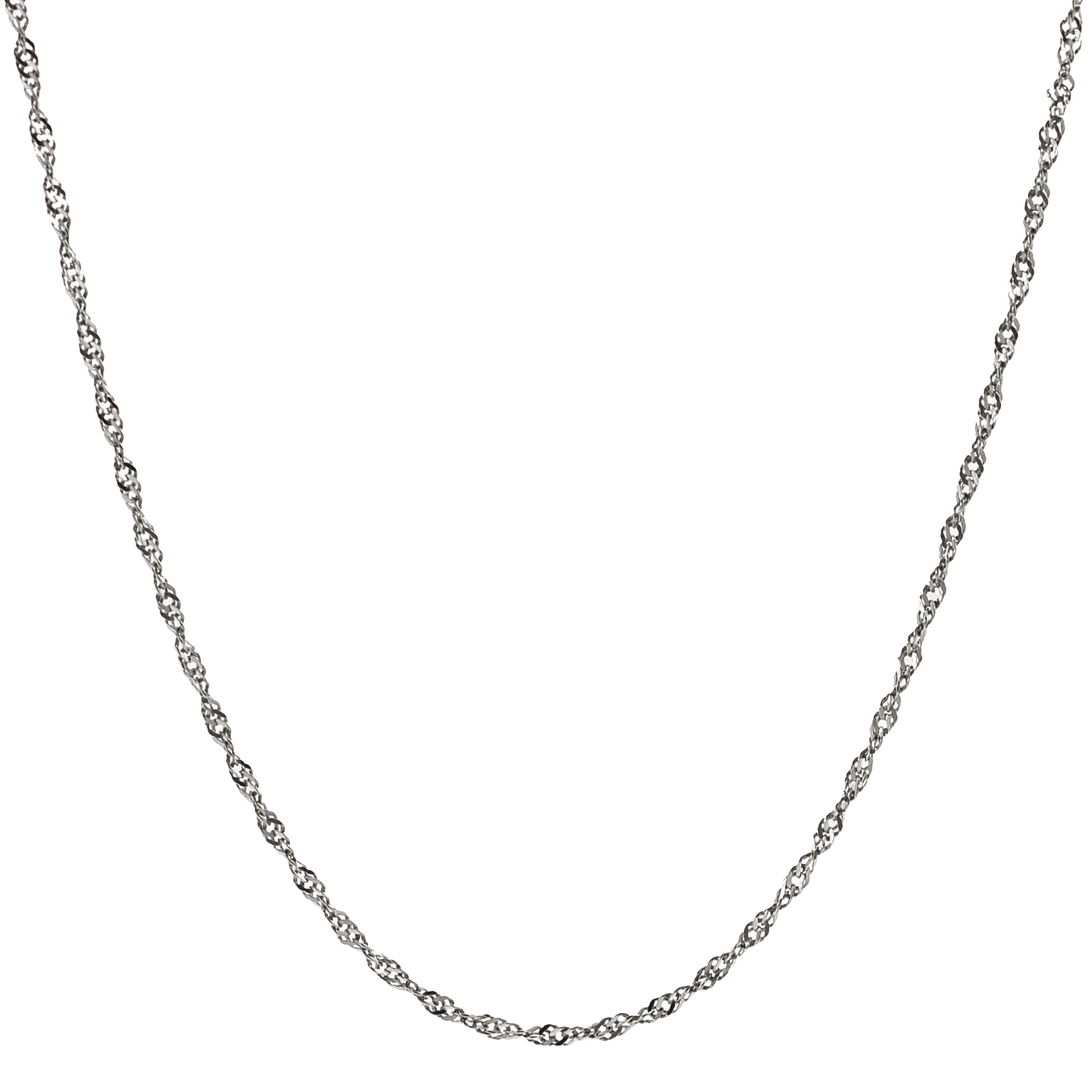 Journee Collection Stainless Steel Singapore Chain Necklace