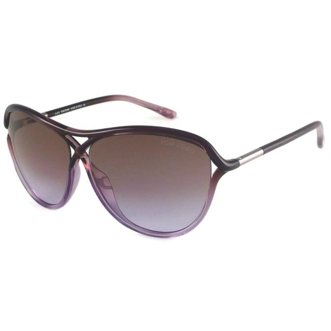 Tom Ford Women's TF0183 Tabitha Rectangular Sunglasses