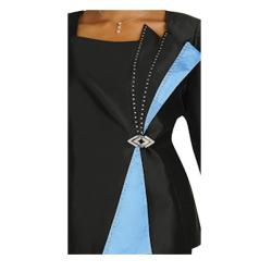 Divine Apparel Two Tone Off Centered Womens Skirt Suit - Thumbnail 1