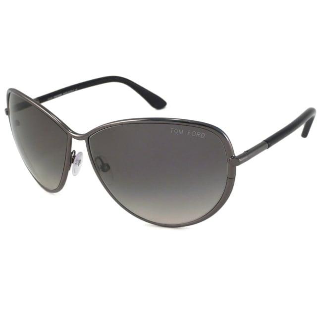 Tom Ford TF181 TF0181 Francesca 08B Shiny Dark Ruthenium Womens Fashion Sunglasses