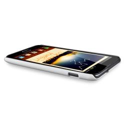 White Rubber Case/ Screen Protector for Samsung© Galaxy Note N7000
