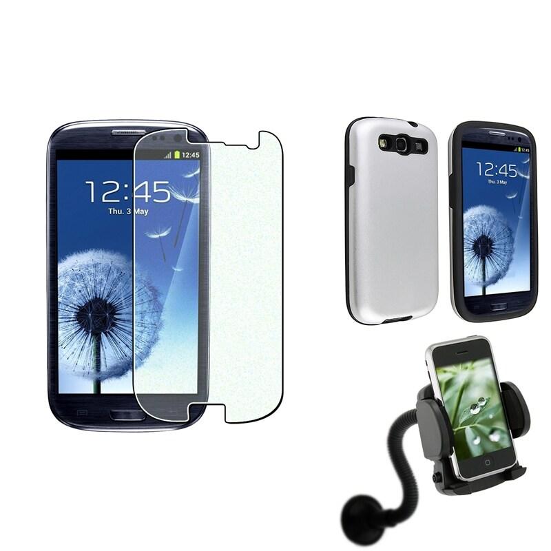 Aluminum Case/ Protector/ Car Mount for Samsung Galaxy S III/ S3