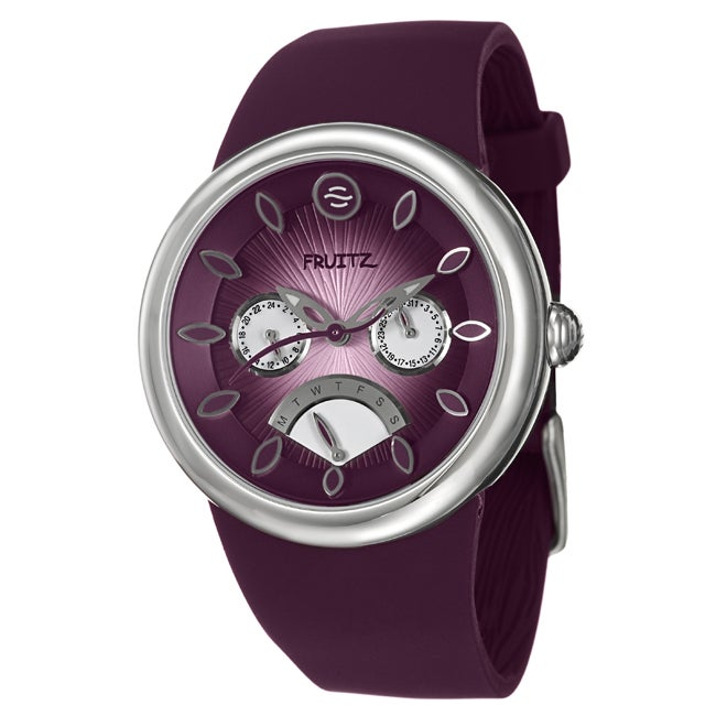 Fruitz Women's 'Happy Hour Purple Rain' Stainless Steel Watch