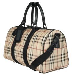 Burberry 'Crest' Plaid Duffle Bag - Thumbnail 1