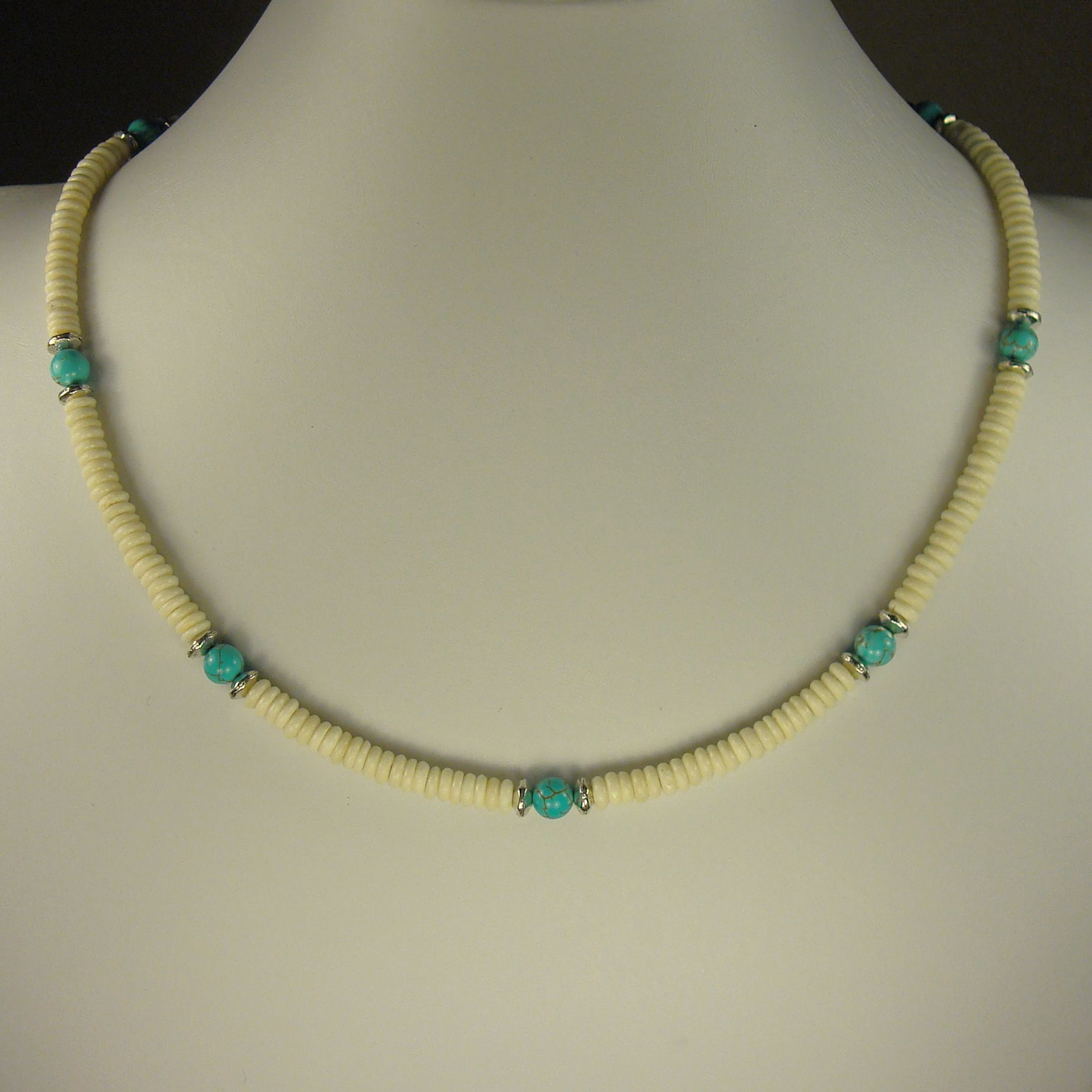 Jewelry by Dawn Bone With Turquoise Magnesite Men's Necklace