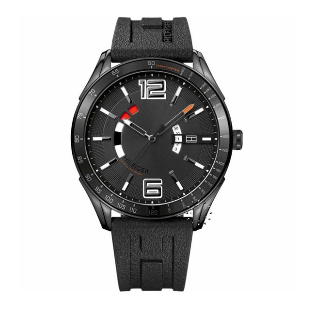 Tommy Hilfiger Men's Black Ion-plated Steel Watch