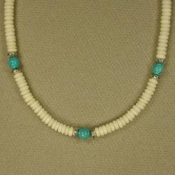 Jewelry by Dawn Bone With Turquoise Magnesite Men's Necklace - Thumbnail 2