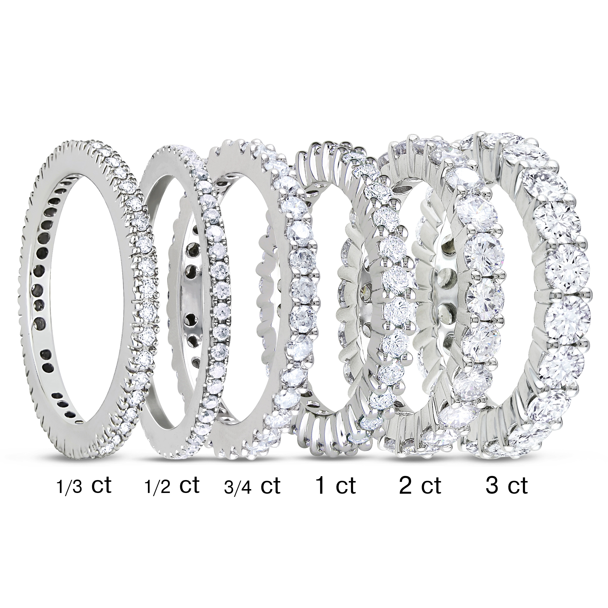 three ip bands carat gold miabella diamond stone white engagement t eternity in w band ring