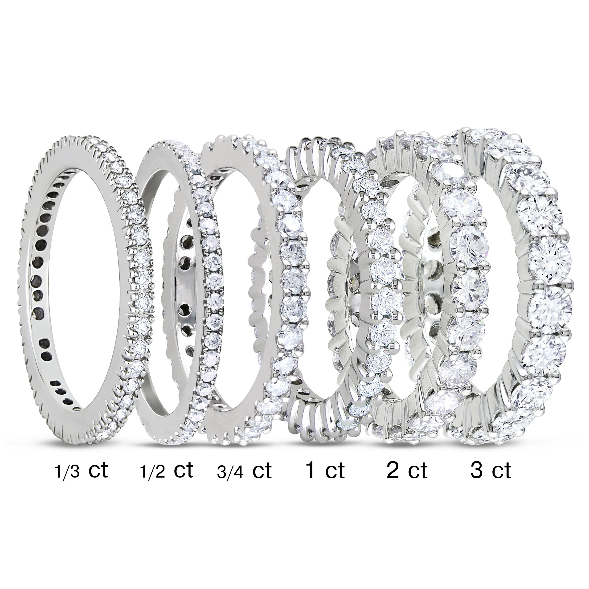 wedding diamond emerald cut idea of awesome band eternity ring carat bridal bands rings concierge