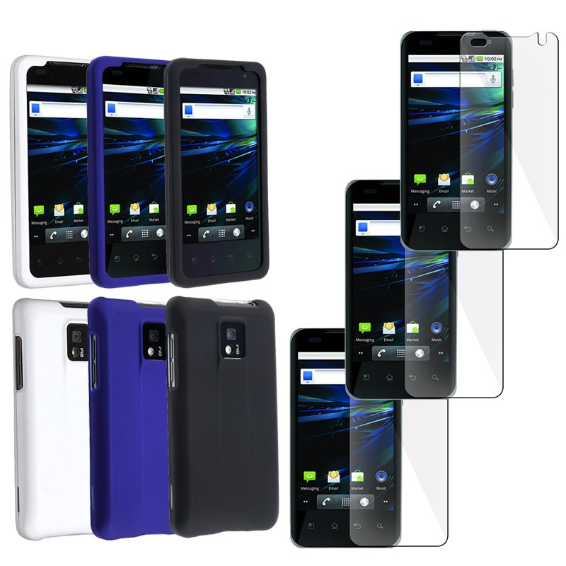 Black/ White/ Blue Case/ Screen Protector for LG G2X