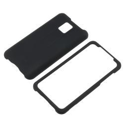 Black/ White/ Blue Case/ Screen Protector for LG G2X - Thumbnail 1