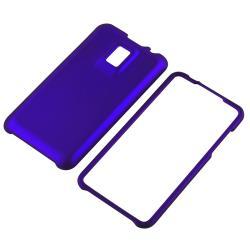 Black/ White/ Blue Case/ Screen Protector for LG G2X - Thumbnail 2