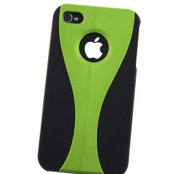Green/ Dark Blue/ Black/ Red Snap-on Case for Apple iPhone 4/ 4S - Thumbnail 2