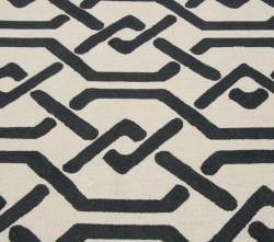 nuLOOM Handmade Marrakesh Trellis Charcoal Wool Rug (7'6 x 9'6) - Thumbnail 2