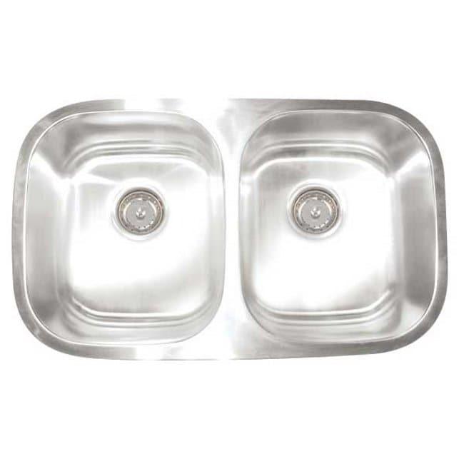 Artisan Premium Collection 16-gauge Stainless Steel 30-inch Undermount Double Basin Kitchen Sink