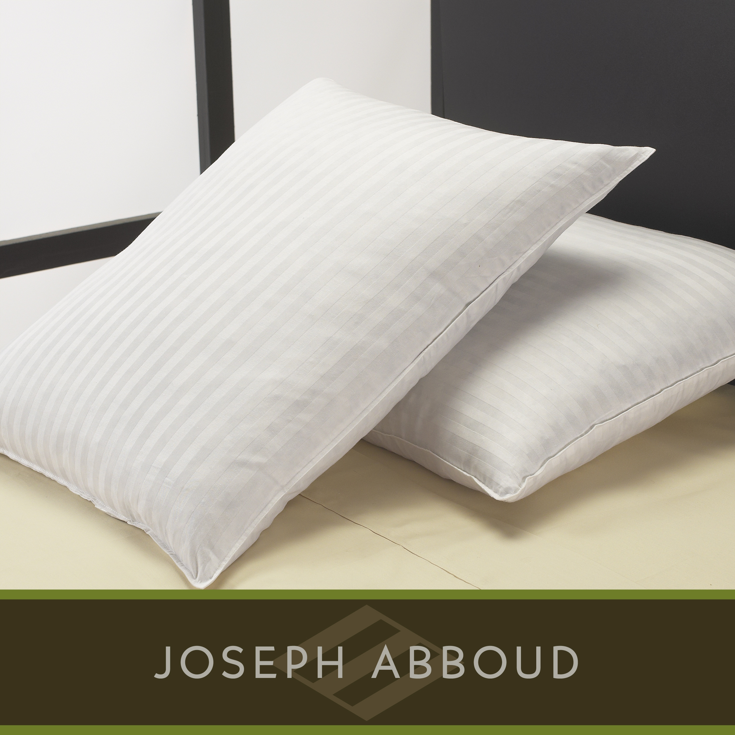 Joseph Abboud Classic Stripe Down Alternative Pillows (Set of 2)