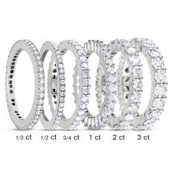 Miadora 14k White Gold 1/3ct to 3ct TDW Diamond Eternity Ring (G-H, I1-I2)