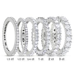 Miadora 14k White Gold 1/3ct to 3ct TDW Diamond Eternity Ring