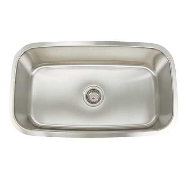 Artisan Premium Collection 16-gauge Stainless Steel 31.5-inch Undermount Single Basin Kitchen Sink