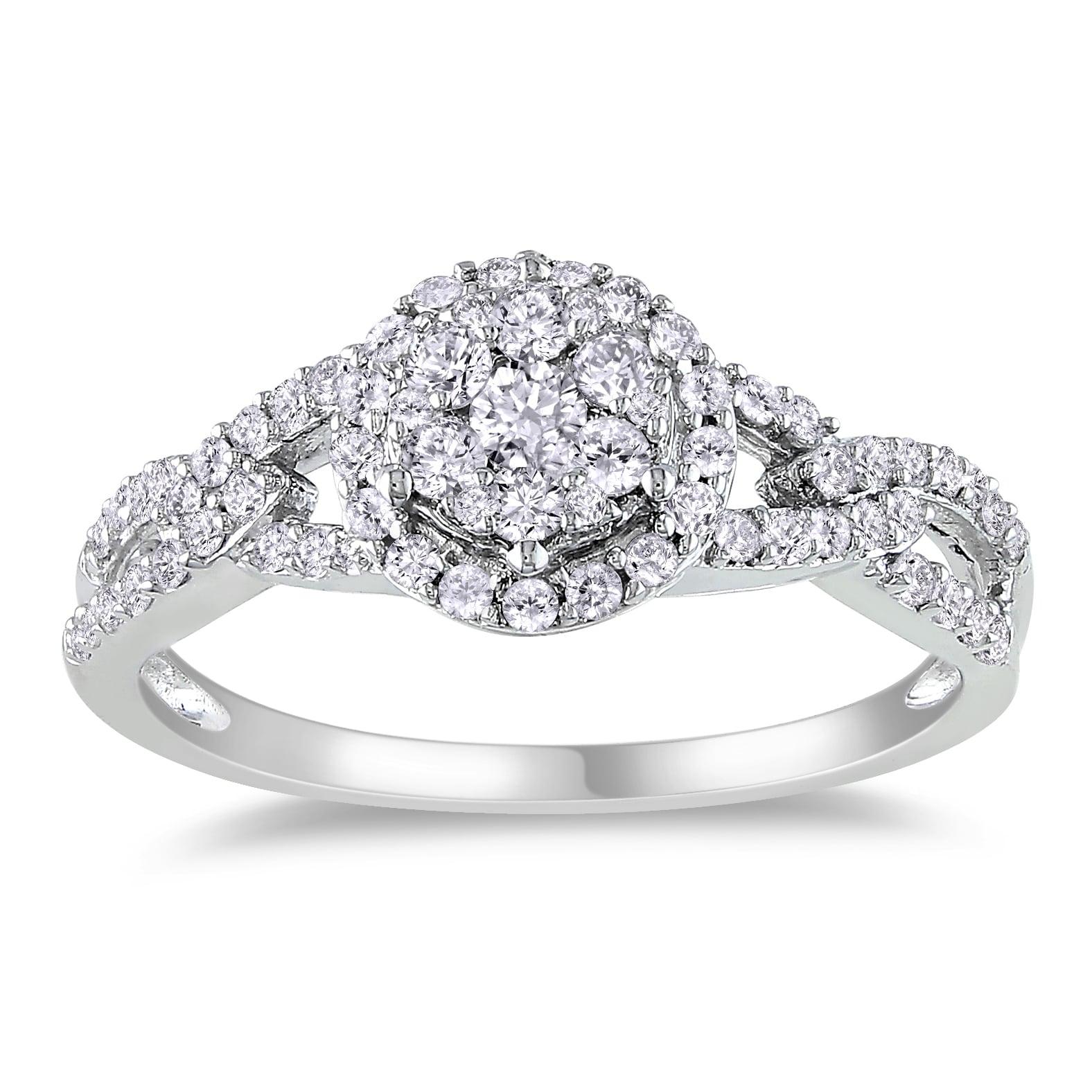 Miadora 14k White Gold 1/2ct TDW Diamond Ring