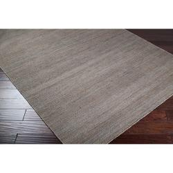 Hand-woven Redwood Pale Blue Reversible Jute Rug Rug (2' x 3') - Thumbnail 1