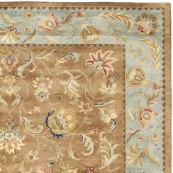 Safavieh Handmade Eden Brown/ Blue Hand-spun Wool Rug (6' x 9') - Thumbnail 1