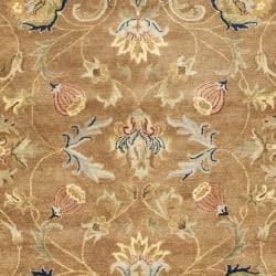 Safavieh Handmade Eden Brown/ Blue Hand-spun Wool Rug (6' x 9') - Thumbnail 2