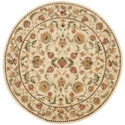 Safavieh Handmade Eden Ivory Hand-spun Wool Rug (4' Round)