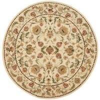 Safavieh Handmade Eden Ivory Hand-spun Wool Rug - 4' x 4' Round
