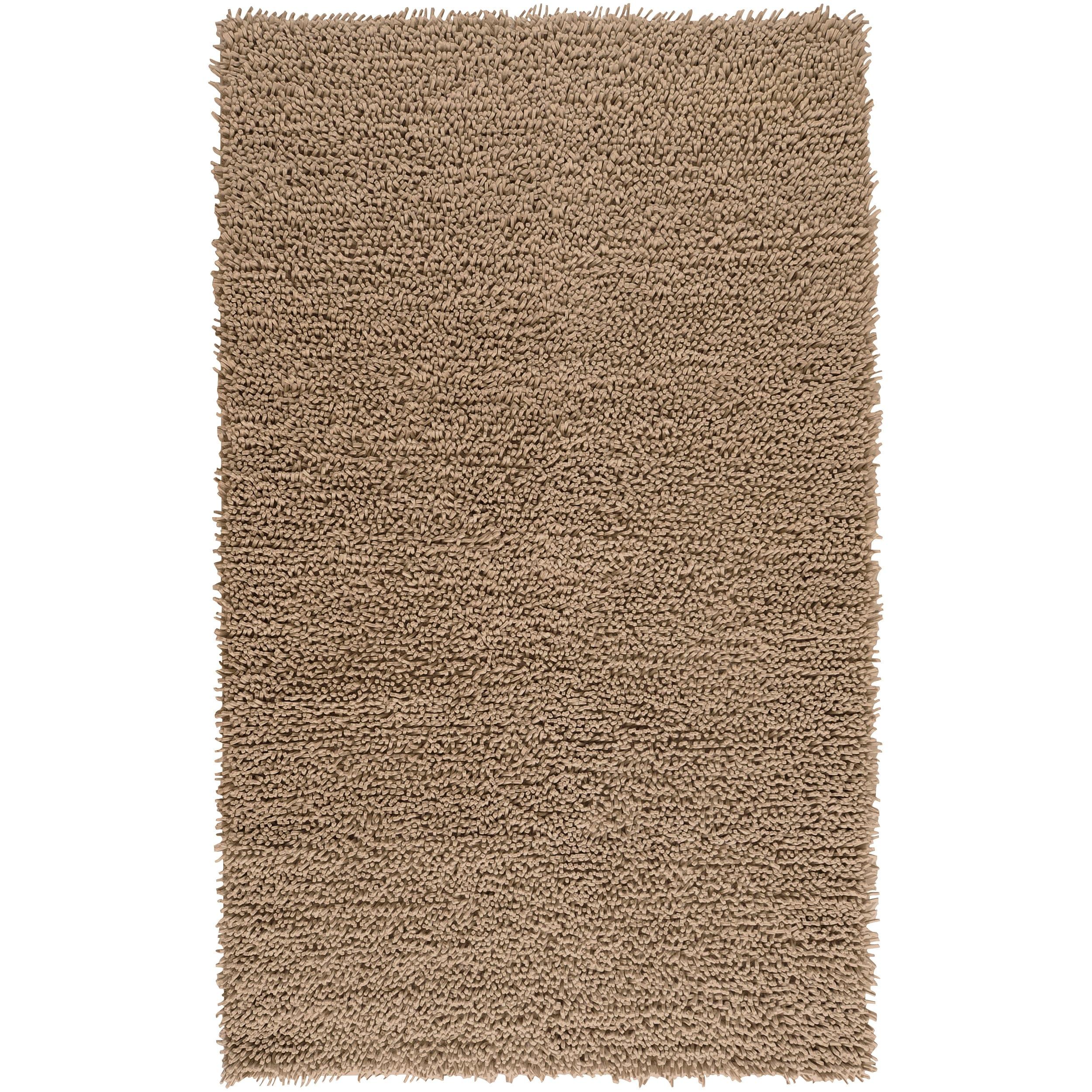Hand-woven Flinders Dark Beige Wool Shag Rug (8' x 10')