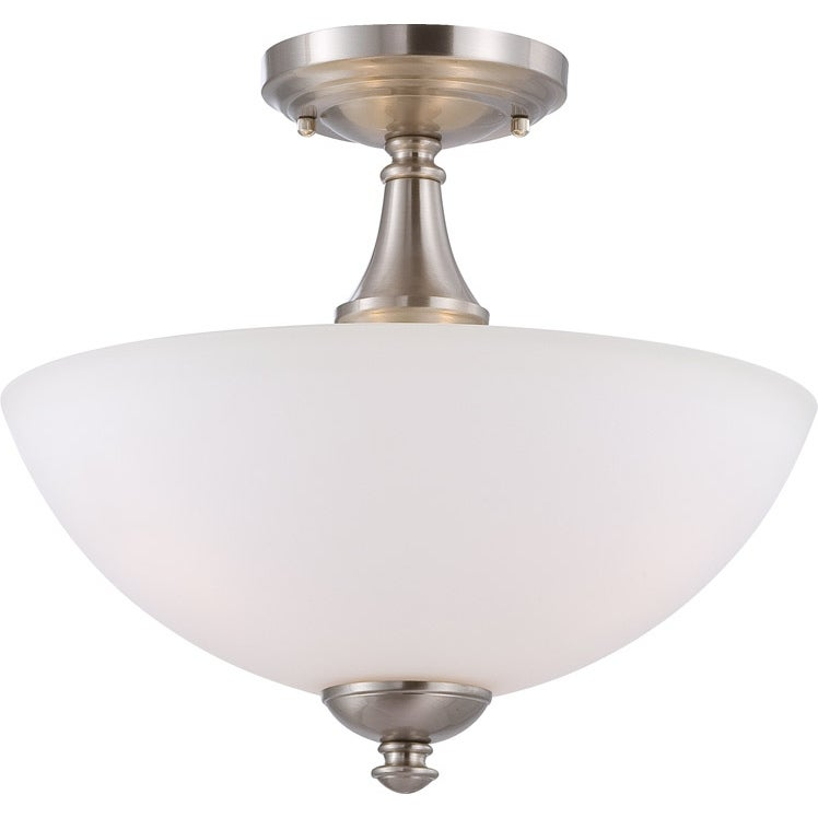 Nuvo Patton 3-light Brushed Nickel Fluorescent Semi-flush Fixture