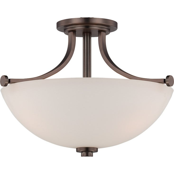 Nuvo Bentley 3-light Hazel Bronze Semi-flush Fixture
