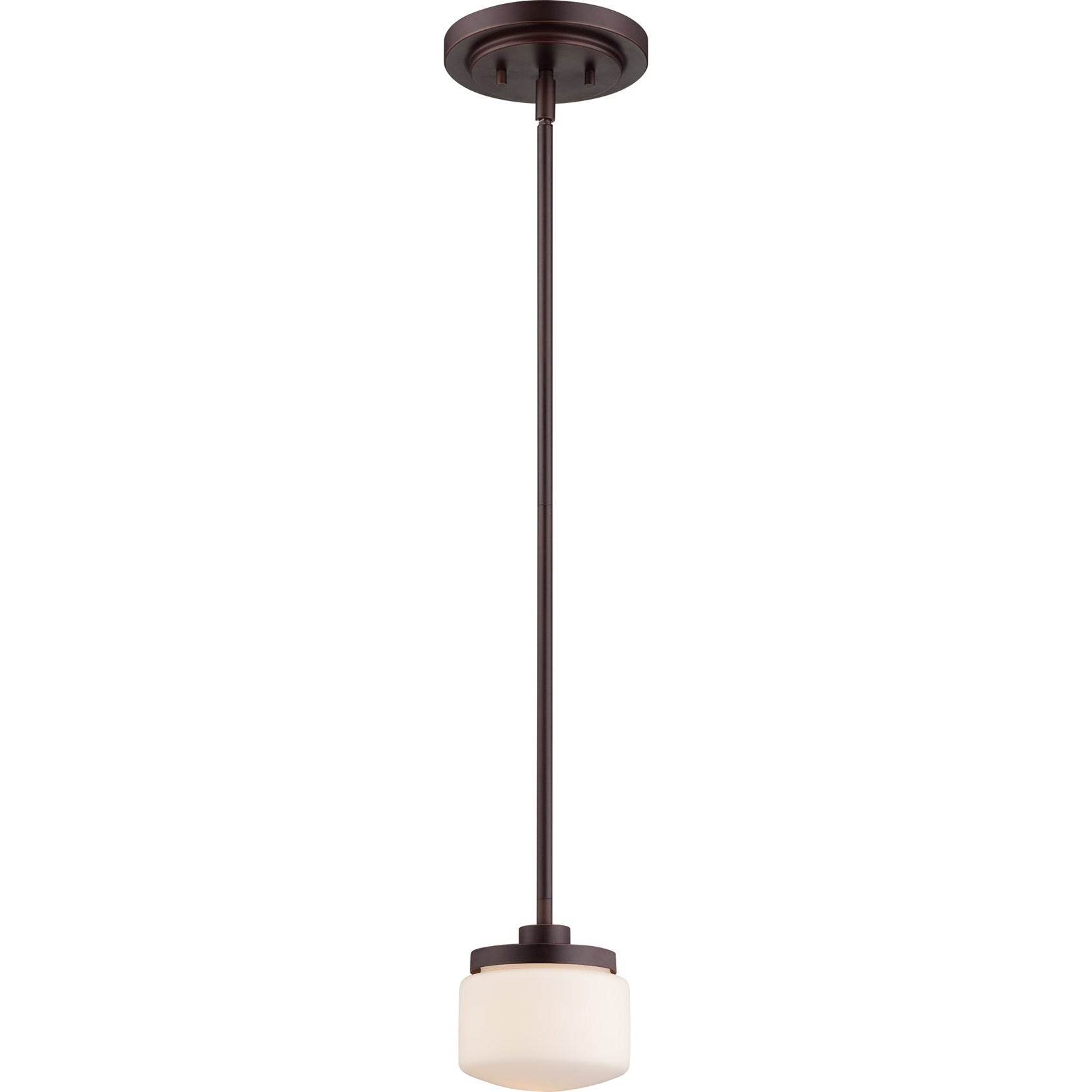 Nuvo Austin 1-light Russet Bronze Mini Pendant