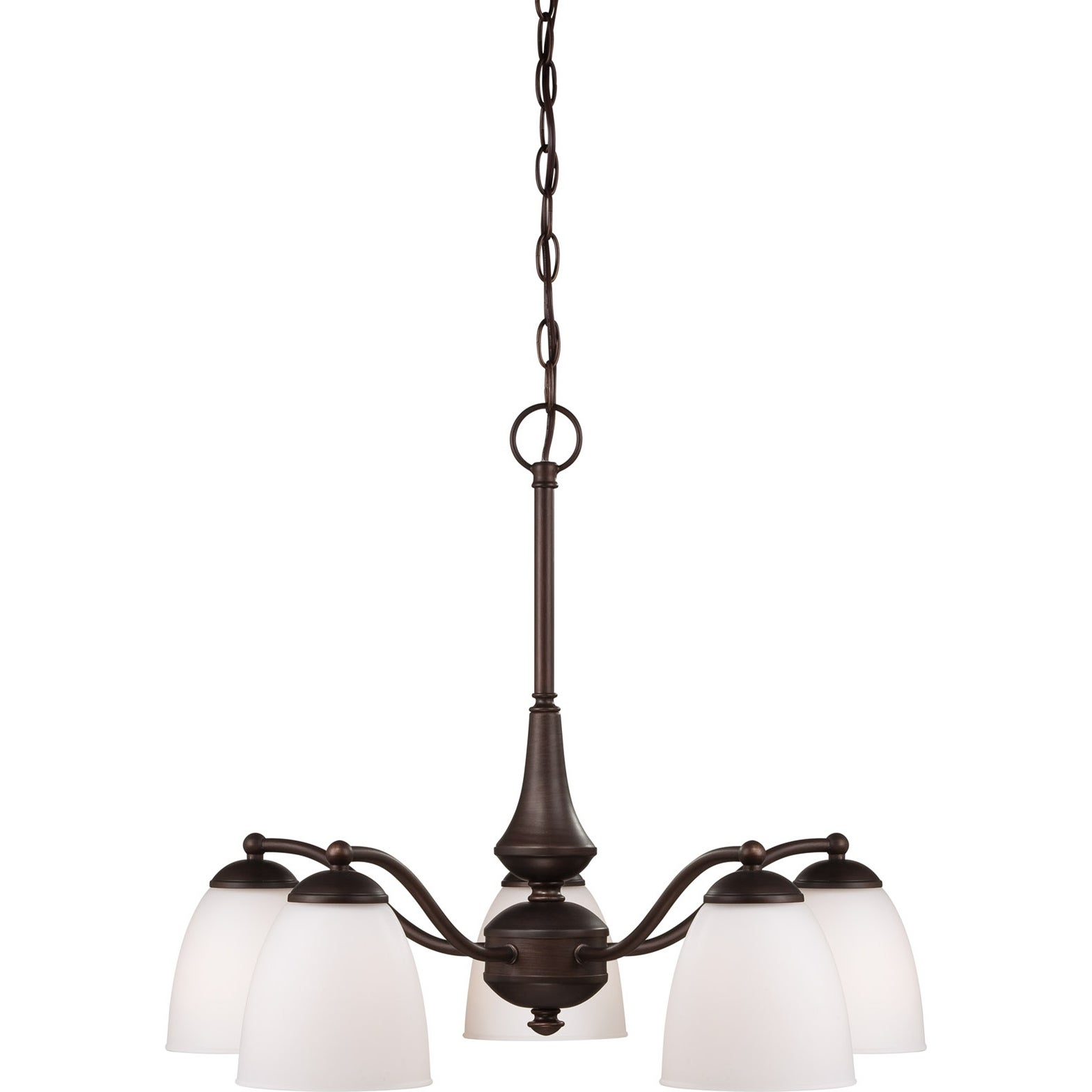 Nuvo Patton 5-light Prairie Bronze Chandelier