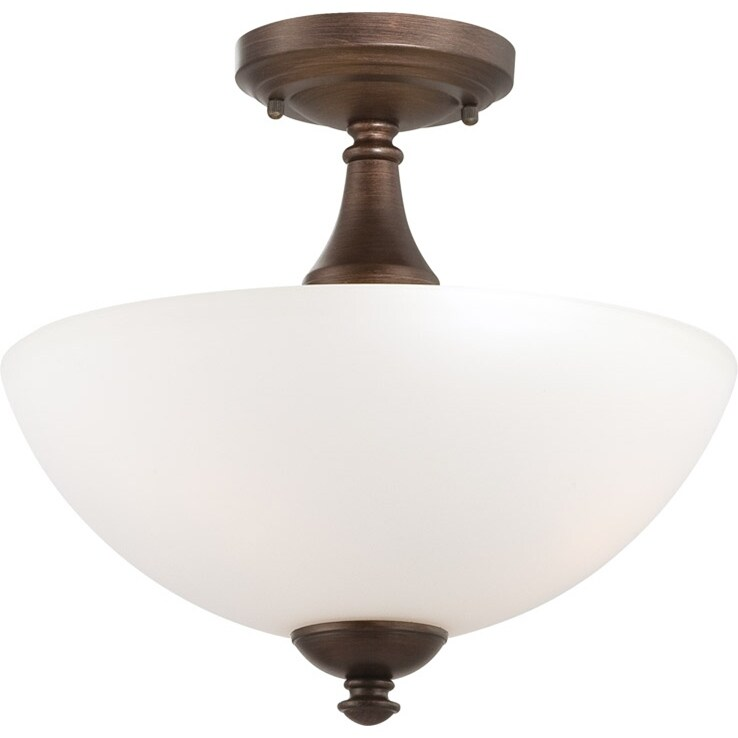 Nuvo Patton 3-light Prairie Bronze Semi-flush Fixture