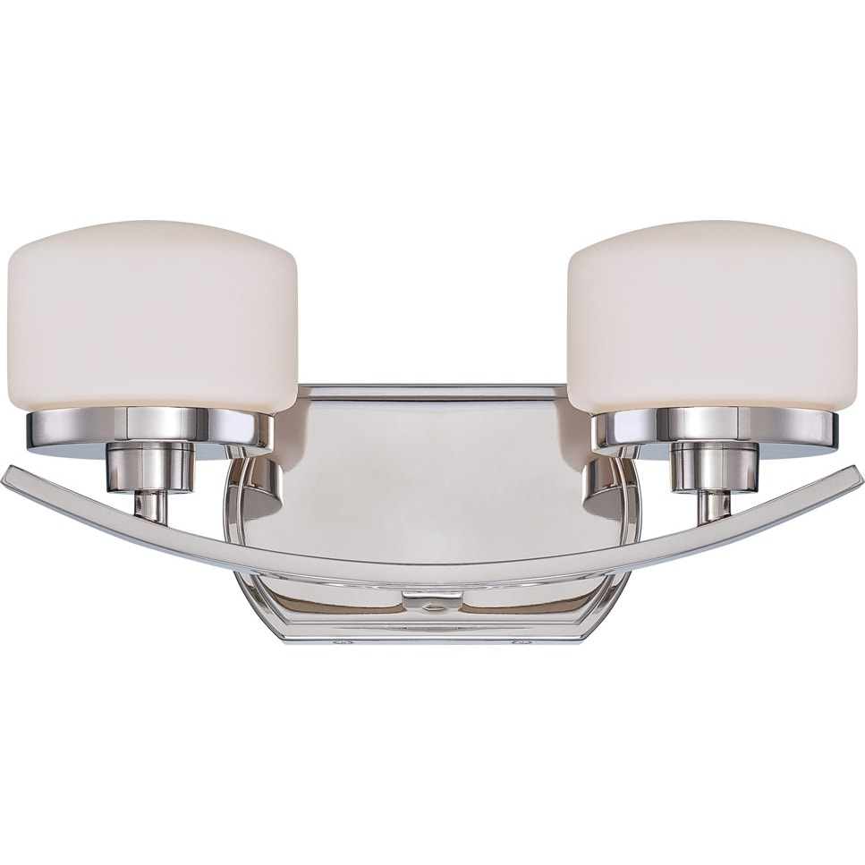 Nuvo 'Austin' 2-light Polished Nickel Vanity Fixture