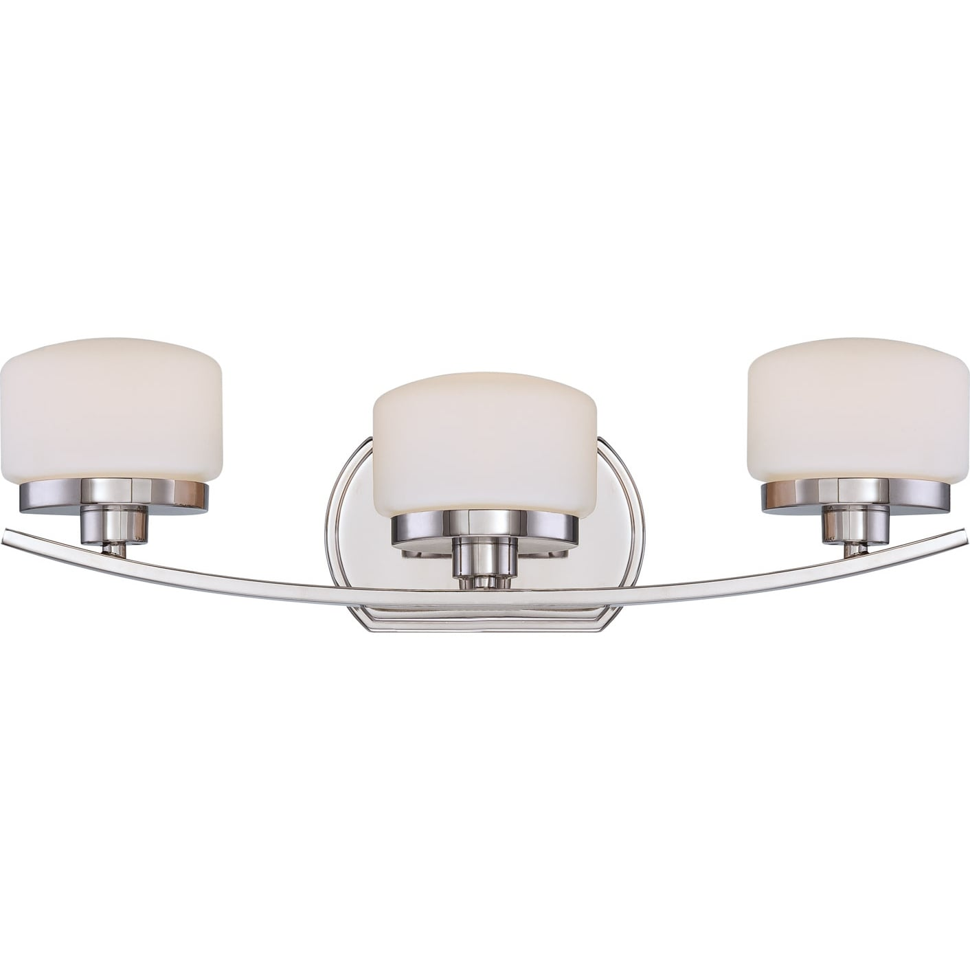 Nuvo 'Austin' 3-light Polished Nickel Vanity Fixture