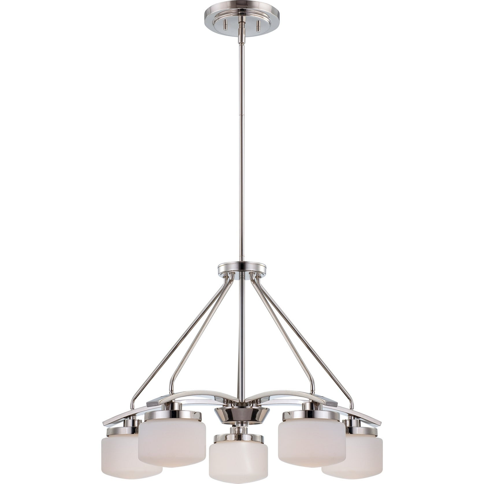 Nuvo 'Austin' 5-light Polished Nickel Chandelier