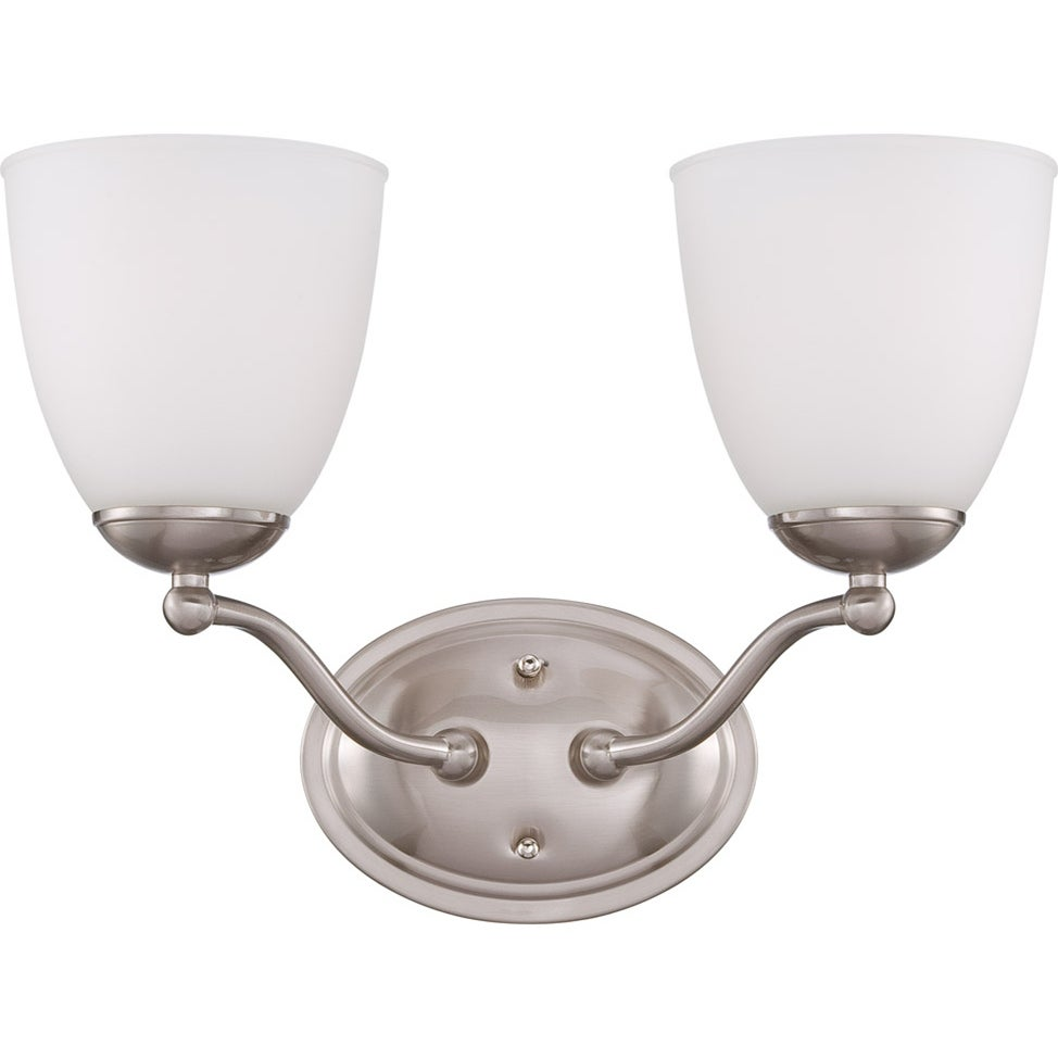 Nuvo 'Patton' 2-light Brushed Nickel Vanity Fixture