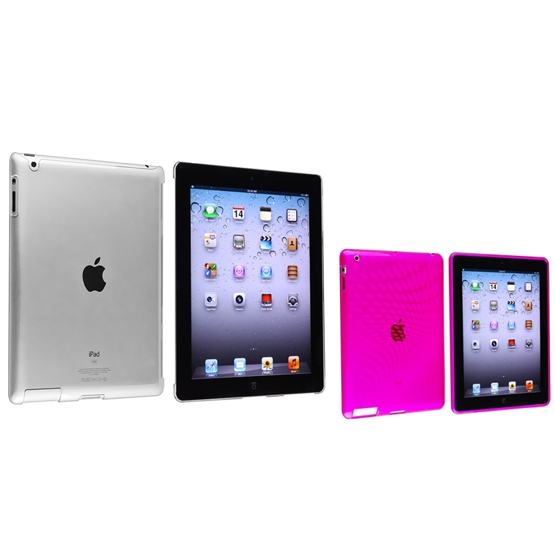 Clear Pink Leopard TPU Case/ Crystal Case for Apple® iPad 2/ 3