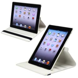 White 360 Swivel Leather Case/ Crystal Case for Apple® iPad 2/ 3 - Thumbnail 2