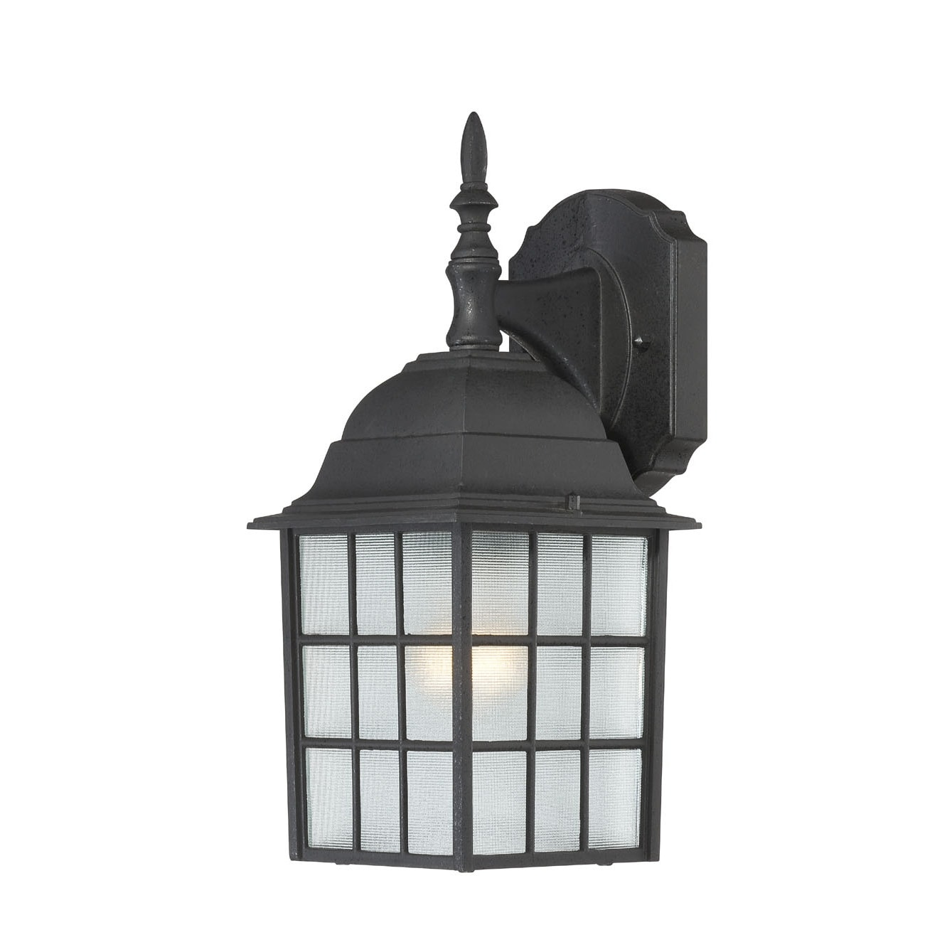 Nuvo 'Adams' 1-light Textured Black 14-inch Wall Sconce