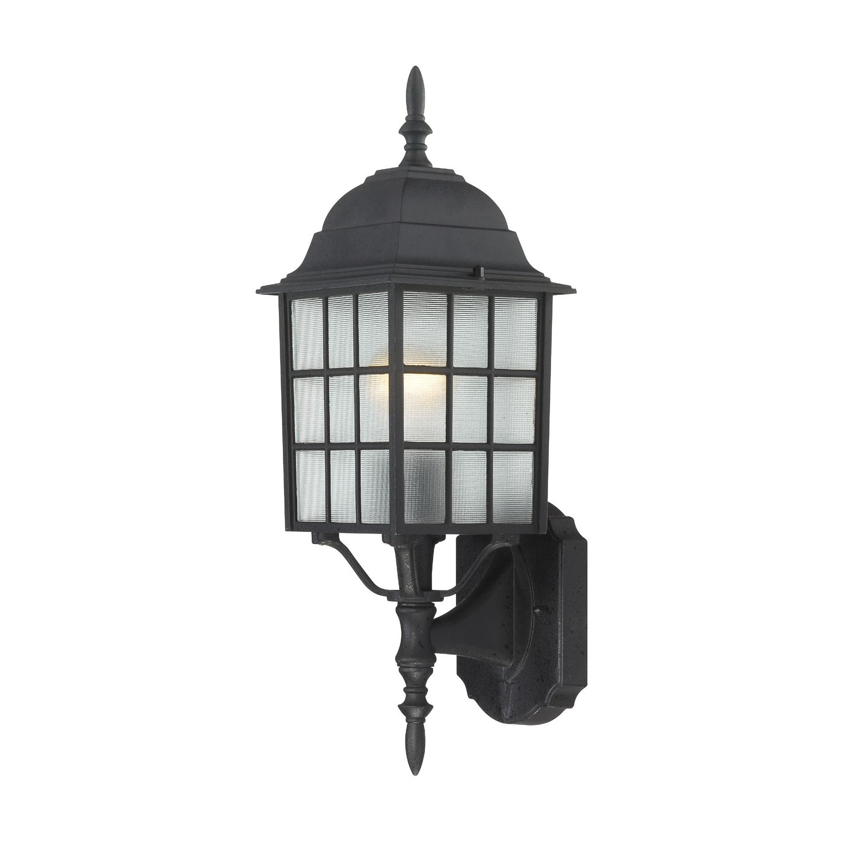 Nuvo 'Adams' 1-light Textured Black 18-inch Wall Sconce